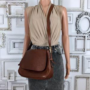 Fossil Harper Large Brown Leather Crossbody Bag